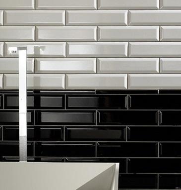 Vægfliser Metro Badeværelse Køkken Hvid